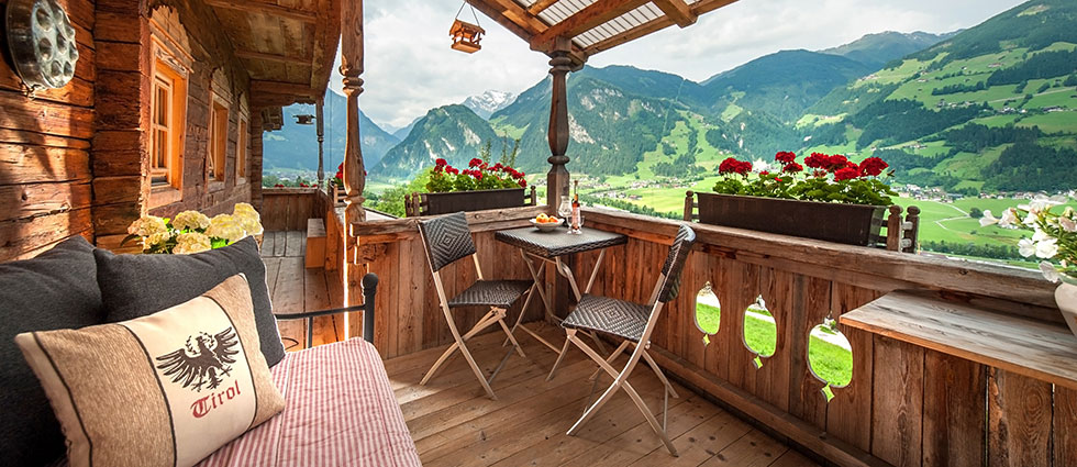 Sun terrace with fantastic view